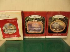 HALLMARK THOMAS KINKADE ~ PAINTER OF LIGHT ORNAMENTS~ LOT OF 3~ MIB H38