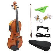 Beginner 4/4 Full Size Acoustic EQ Violin Fiddle W/Bow Rosin+Hard Case New N9W7