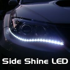 "LED W8 WHITE 2X 24"" SIDE SHINE STRIP 30 SMD HID FOG DRL HEAD SLIM XENON LIGHT a"
