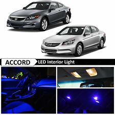 14x Blue Interior LED Lights Package kit for 2003-2012 Honda Accord