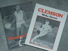 2 CLEMSON vs WAKE FOREST BASKETBALL PROGRAMS, 1977, 1978