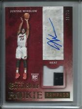 Justise Winslow 15/16 Excalibur Autograph Game Jersey Patch Rookie #19/25