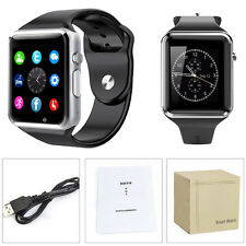US A1 Bluetooth Smart Watch Phone Mate GSM SIM for Android iOS Samsung Black New