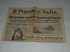 GIORNALI DI GUERRA RARI-IL POPOLO D'ITALIA-FORTI POSIZIONI SOVIETICHE SFONDATE N