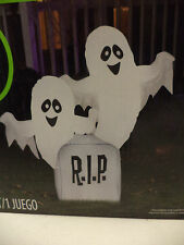 NEW- 4' Tall Friendly Thombstone Ghost Airblown/Inflatable- Gemmy