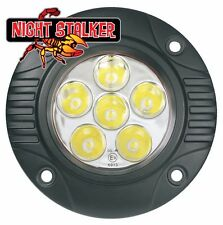 Round 18 Watt Quad Night Stalker LED Flush Mount Aux/Reverse Lights. PAIR!