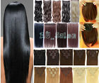 One Piece long curl/curly/wavy hair extension clip-on 140 full head bangs AUSPOS