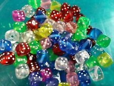 Dice Beads Acrylic Assorted Colors Wholesale Beads 8mm 50 pieces