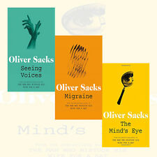 Seeing Voices, Mind's Eye and Migraine by Oliver Sacks 3 Books Collection Set