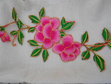 ROSE FLOWER NEW EMBROIDERED  SEW / IRON ON  PATCH 4' X 7'