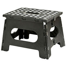 Folding Step Stool For Kids & Adults Foldable Stepping Bench Non-Slip Black