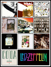 "LED ZEPPELIN album discography magnet (4.5"" x 3.5"")"