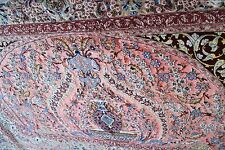 EXCEPTIONAL SUPER FINE SIGNED PERSIAN ISFAHAN SILK RUG WITH KORK HIGHLIGHT