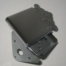 MANDOLIN TAILPIECE  chrome engraved cover plate 3 screw