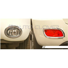 Chrome Fog Lamp Garnish Cover Molding 4p For 07 08 09 Hyundai Santa Fe