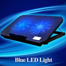 """Ares Black 2 Fans Laptop Cooler Stand Tilt For 15.4"""" 15.6"""" 17"""" inch Cooling Pad"""