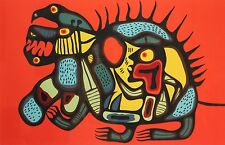 "Native Canadian Norval Morrisseau Serigraph ""Bear Power"" 18/99 signed in pencil"