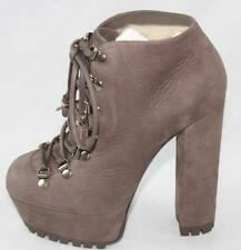 AUTH Gucci Women Suede Lace-up Ankle Boots 41