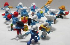 15 McDonalds 2011 SMURFS MOVIE HAPPY MEAL SMURF FIGURE Lot Rubber Toys