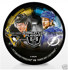 2016 Stanley Cup Playoffs Dueling Hockey Puck Sidney Crosby vs Victor Hedman RD3