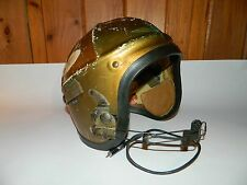 VINTAGE GENTEX H-4 KOREAN WAR ERA US NAVY FIGHTER PILOT HELMET WITH MIC LARGE