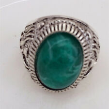 Hot Vintage woman 316L Stainless Steel Vogue Design Mini Stone Ring Size 10  !