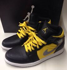 NIKE AIR JORDAN 1 PHAT BLACK-STEALTH-SPEED YELLOW-WHITE SZ 10 364770-050