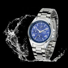 2015 Classical waterproof Men Stainless Steel Quartz Analog watch Wristwatches
