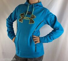 Under Armour Women's Fleece Sweater Hoodie Blue Size M