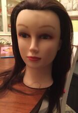 Charlotte Cosmetology Mannequin Head 100% Human Hair Brown by Giell