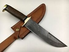 ASH DS4W Damascus steel handmade hunting bowie knife 13""
