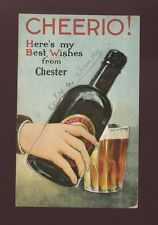 Cheshire CHESTER Pocket Novelty Beer Used 1929 PPC 1½d PUC stamp