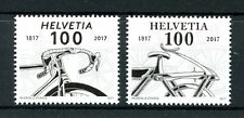 Switzerland 2017 MNH Bicycle 200th Anniv 2v Set Bikes Bicycles Stamps