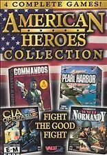 American Heroes Collection 4 COMPLETE GAMES (PC, 2001)
