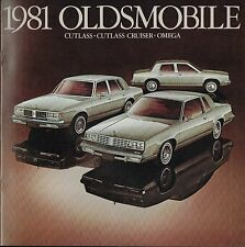 1981 OLDSMOBILE Brochure/Catalog: CUTLASS / OMEGA SX/SPORT