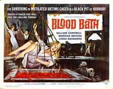 Baño de Sangre Afiche 02 A3 Caja Lona Impresión