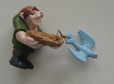 Disney QUASIMODO PVC Plastic Figure Hunchback Of Notre Dame with Bird in Nest