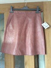 nude pink faux leather skirt xs from zara bnwt