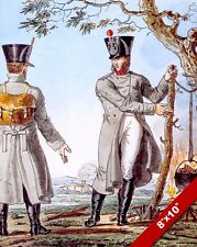 NAPOLEON'S GRAND ARMY SOLDIER PAINTING MILITARY HISTORY ART REAL CANVAS PRINT