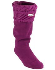 Hunter dark violet câble Moss manchette welly chaussettes rrp £ 30 sur amazon bargain!!!