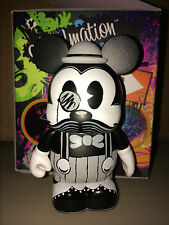 "Moustashe Mickey Mouse 3"" Vinylmation D-Tour Series #2 Moustache Black White"
