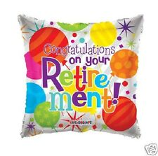 """18"""" Congratulations on your Retirement Silver Colorful Mylar Foil Balloon Gifts"""