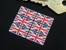 Set DI 6 PICCOLI Bandiera Union Jack adesivi 25mm Auto Motorsport bici corsa Racing