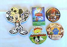 Disney LOT OF 4 BUTTONS & LARGE MICKEY HALLOWEEN FIGURE, DISNEYLAND, TOONTOWN