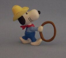 "Snoopy Cowboy With Lasso PVC Figure Peanuts Gang Hat 2.5"" Tall"