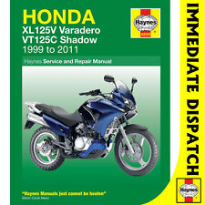 [4899] Honda XL125V Varadero VT125C Shadow 1999-2011 Haynes Workshop Manual