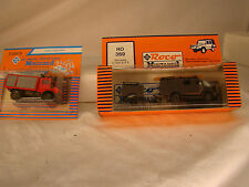 Two Emergency Trucks with Trailers - mint in box