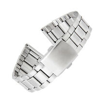Stainless Steel Watch Band Strap Straight End Deployment Buckle Clasp 22mm