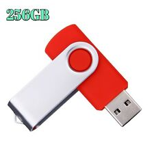 256GB USB 2.0 Flash Drive Disk Memory Pen Stick Thumb Storage Swivel Metal Red