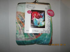 "Ariel The Little Mermaid Princess Disney Silk Touch Throw Blanket 46"" X 60""NEW"